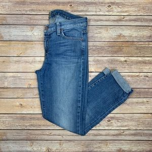 7 For All Mankind The Skinny Crop and Roll Jeans